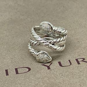 David Yurman Crosseover Confetti Diamond Ring